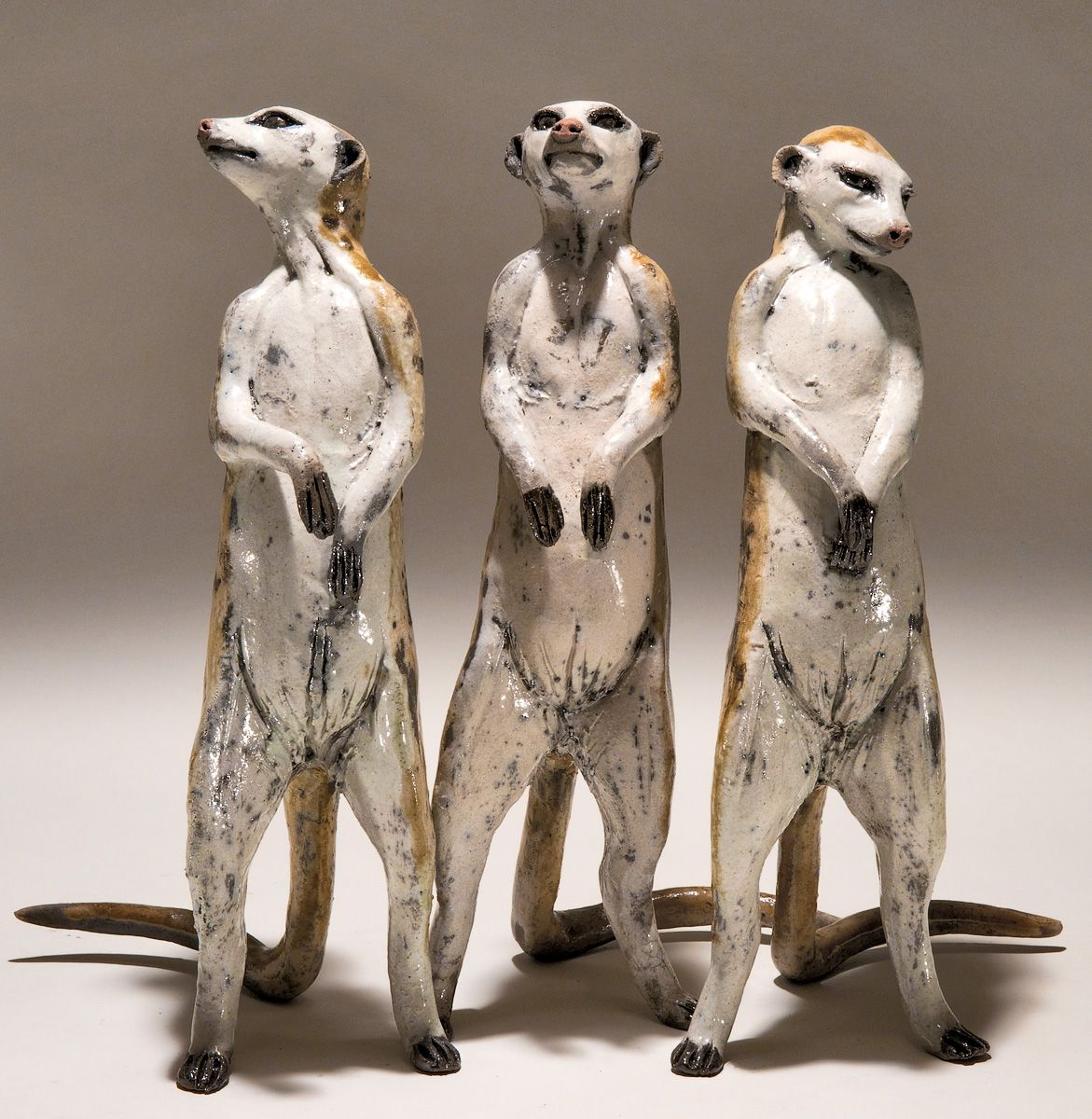 meerkat sculptures by nick mackman  ceramic animals  pinterest  - ceramic art