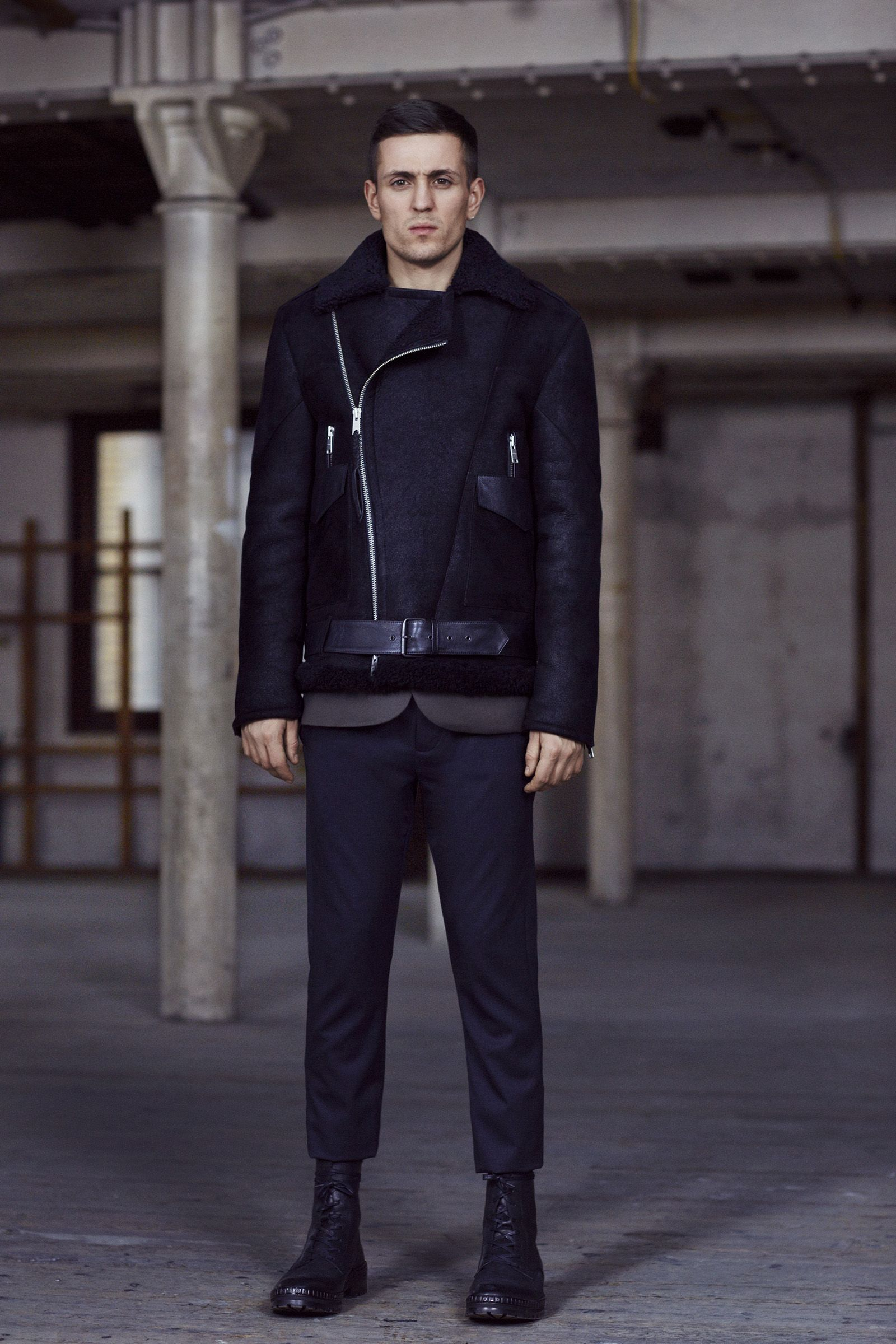 THE AUTUMN COLLECTION. The Takoma Leather Jacket, Shale