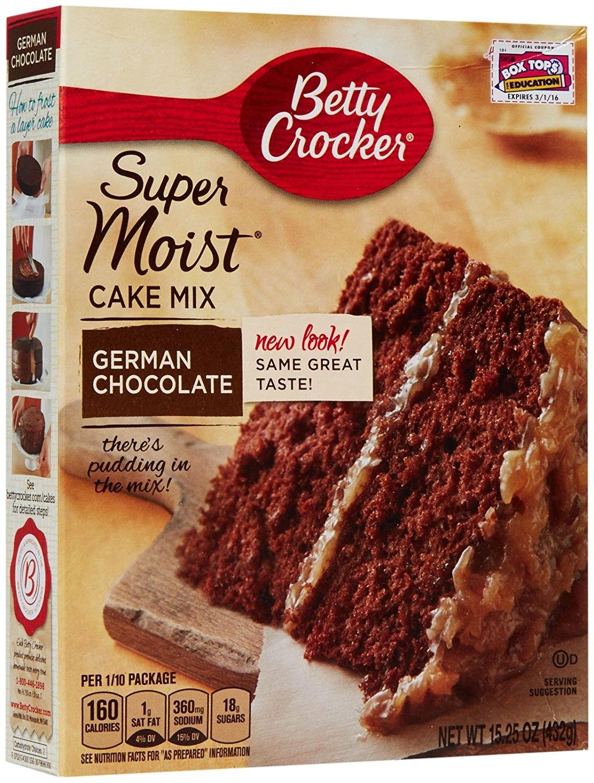 Betty Crocker Super Moist German Chocolate Cake Mix 15 25 Oz