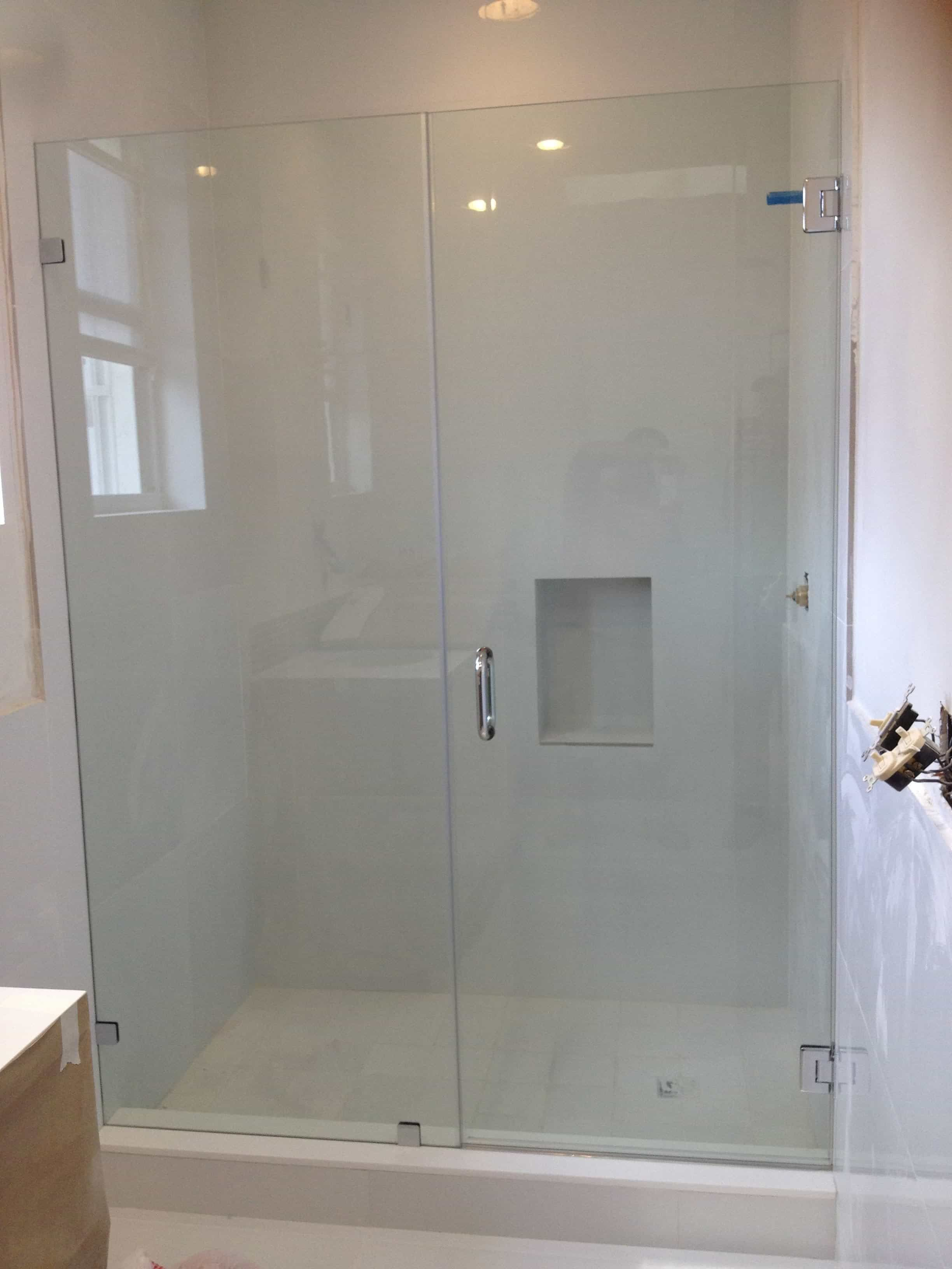 Frameless Bathroom Shower Doors In Line With Images Frameless