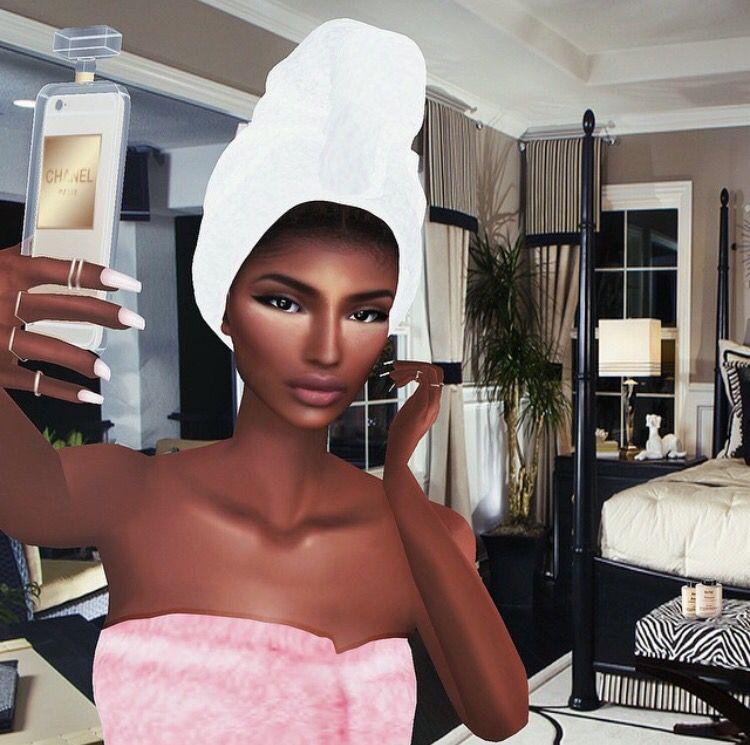 Real Avatar Girl: Black Art Painting, Black Girl Art