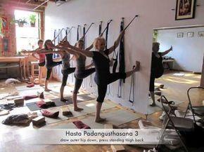 iyengar yoga ropes yoga in 2020  yoga rope iyengar yoga