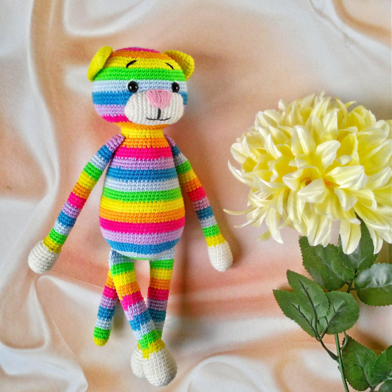 Crochet plush stuffed animal cat kitty toy gift plushie