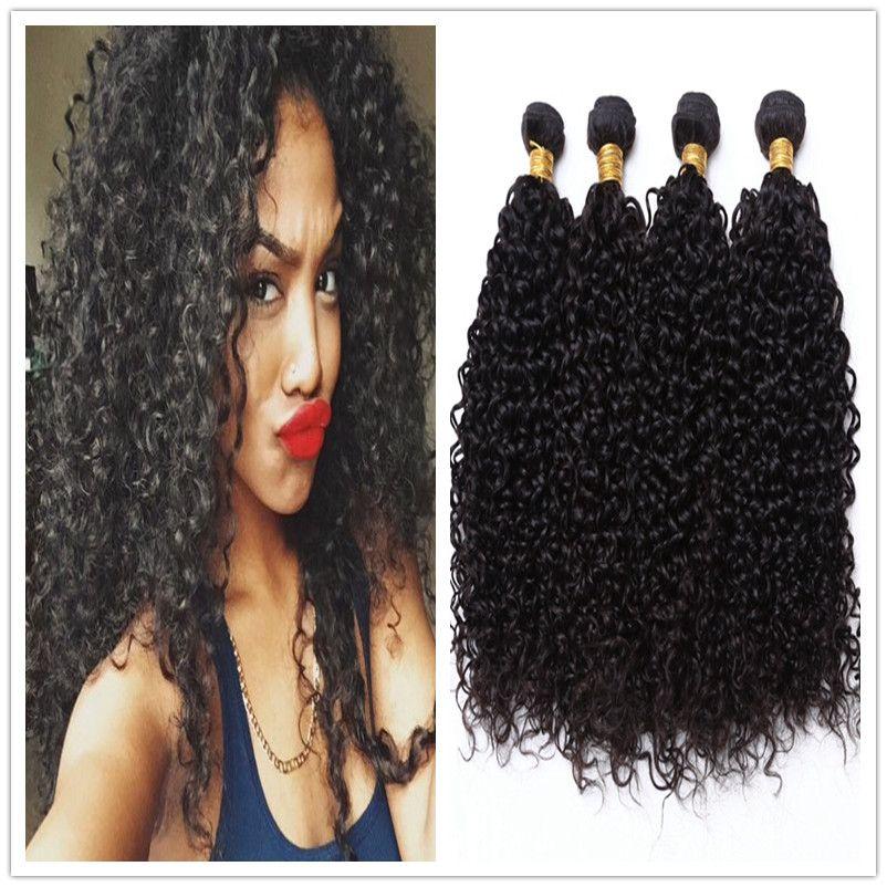 She Hair Peruvian Virgin Human Hair Kinky Curly Weave Virgin