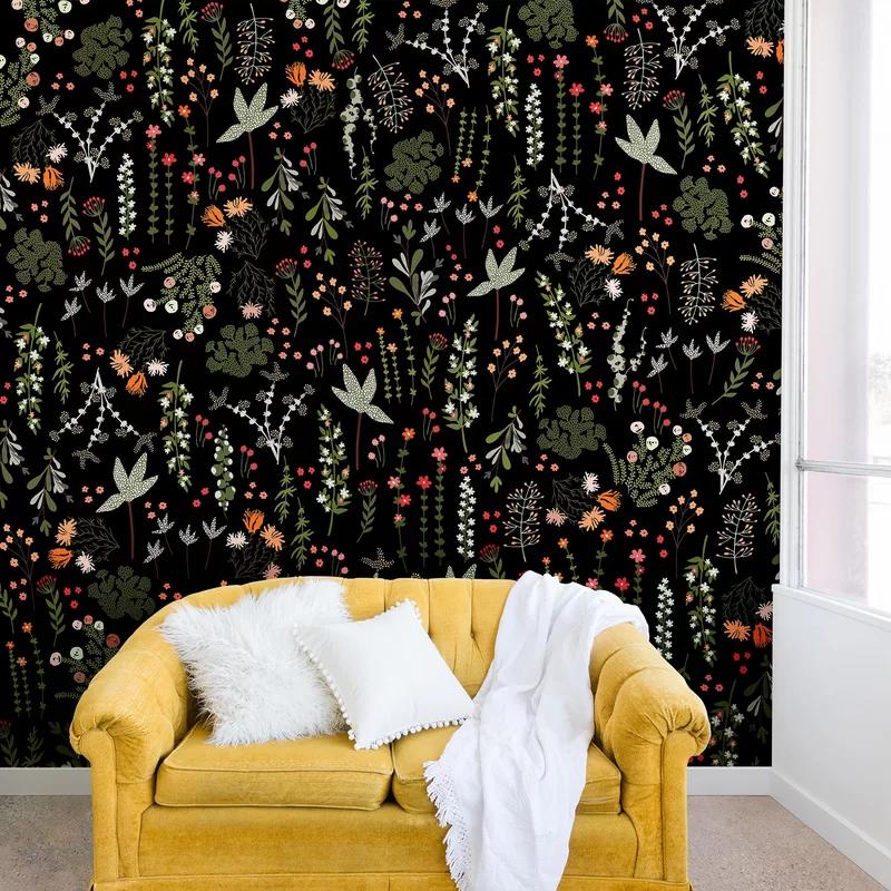 Iveta Abolina Floral Goodness Peel and Stick Wallpaper
