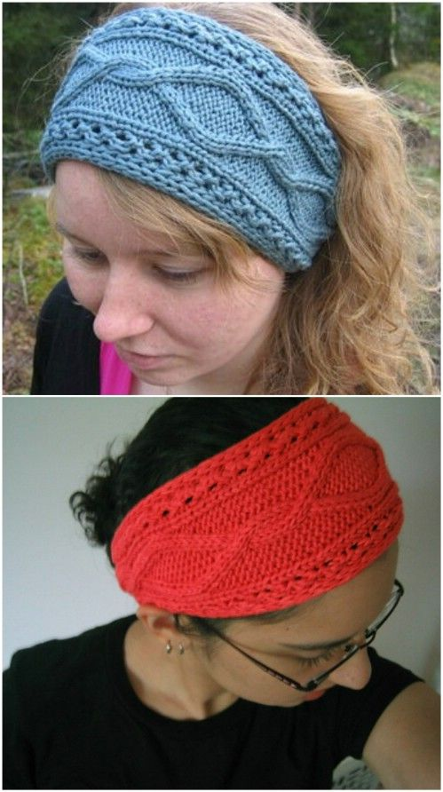 30 Easy And Stylish Knit And Crochet Headband Patterns Knitted