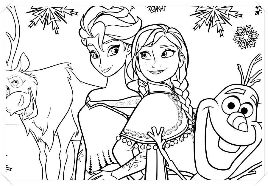 Los Mas Lindos Dibujos De Frozen Para Colorear Y Pintar A Todo Color Imagenes Prontas Para Descargar Frozen Para Colorear Dibujos De Frozen Frozen Para Pintar