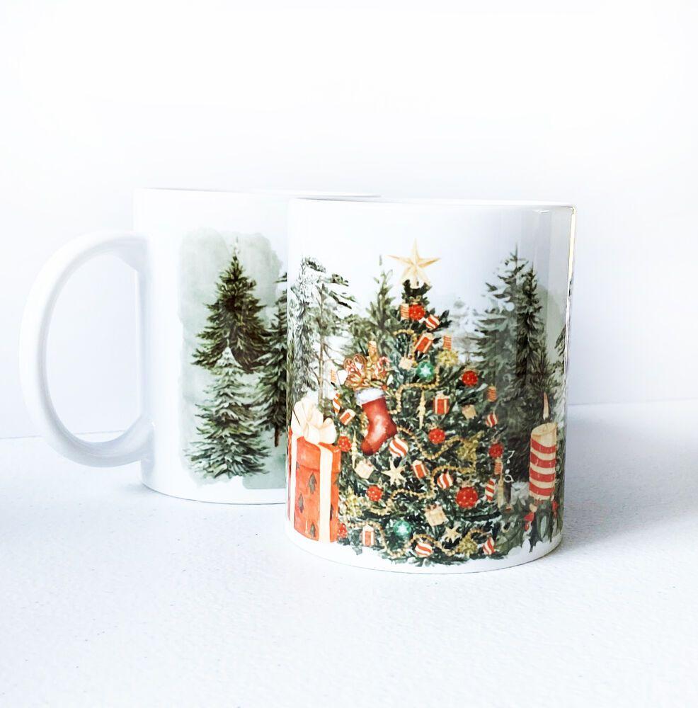 Christmas Tree Gift Coffee Mug New Year Cup Ebay In 2020 Christmas Tree With Gifts Mugs Tree Gift