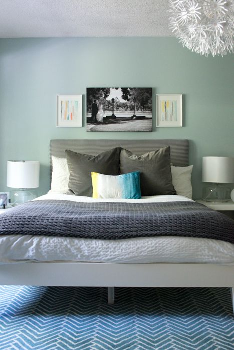 Gallery For Aqua And Grey Bedroom