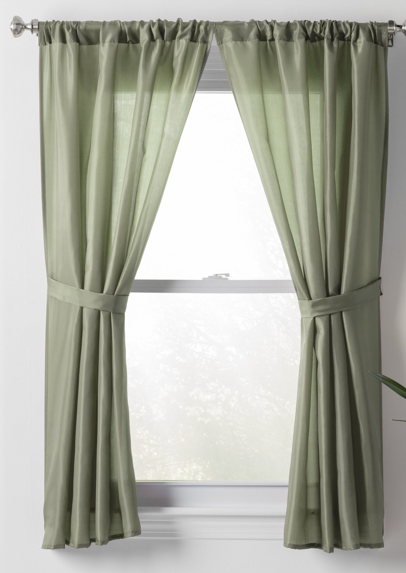 Kitchen Curtains Littlewoods Basics Solid Sheer Rod Pocket Bathroom Curtain Panels In 2019