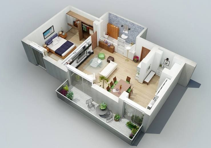 Pin by Anas Mullick on Architectural 3D cut Plan Render in 2018