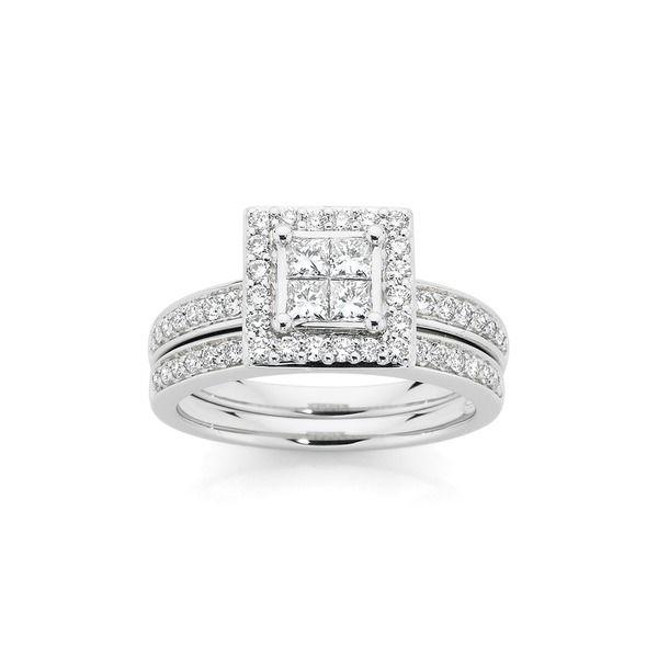 18ct White Gold Diamond Bridal Ring Set Angus Coote Rings I