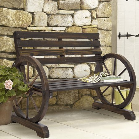Marvelous Patio Garden Park Wooden Outdoor Bench Rustic Wood Design Caraccident5 Cool Chair Designs And Ideas Caraccident5Info