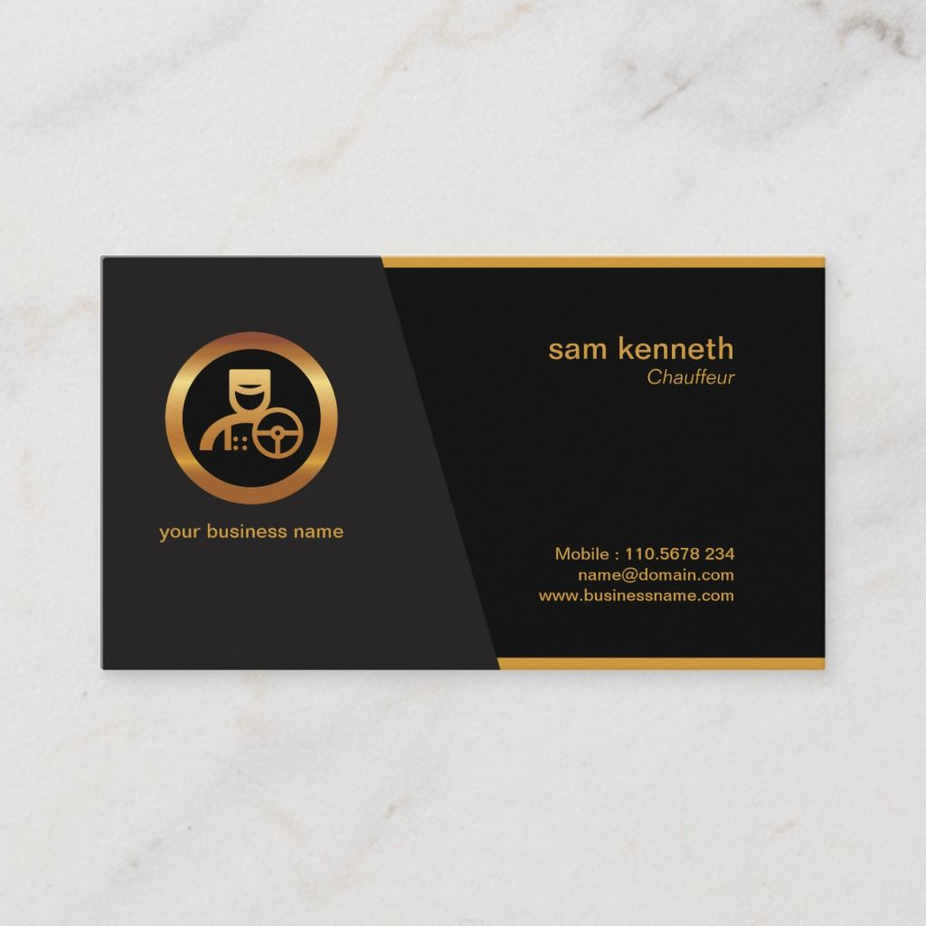 Simple Minimalist Clean Professional Chauffeur Business Card Zazzle Com Corporate Business Card Cards Business Cards