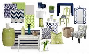Navy And Lime Oh Me Oh My Blue And Green Living Room
