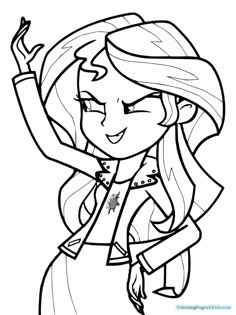 24 Sunset Shimmer Coloring Page In 2020 My Little Pony
