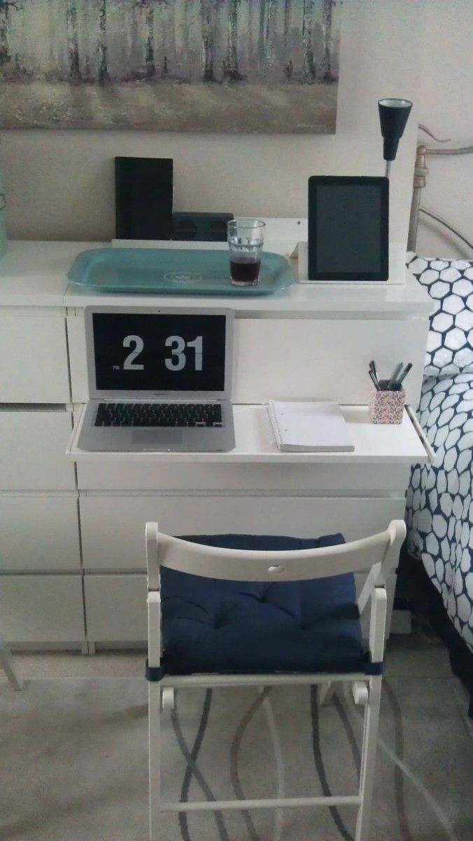 Scrivania Con Cassettiera Ikea malm chest of drawers with pull-out laptop table (con