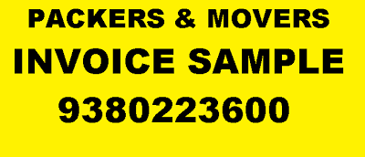 swastik packers and movers chennai packing moving service packers and movers invoice sample