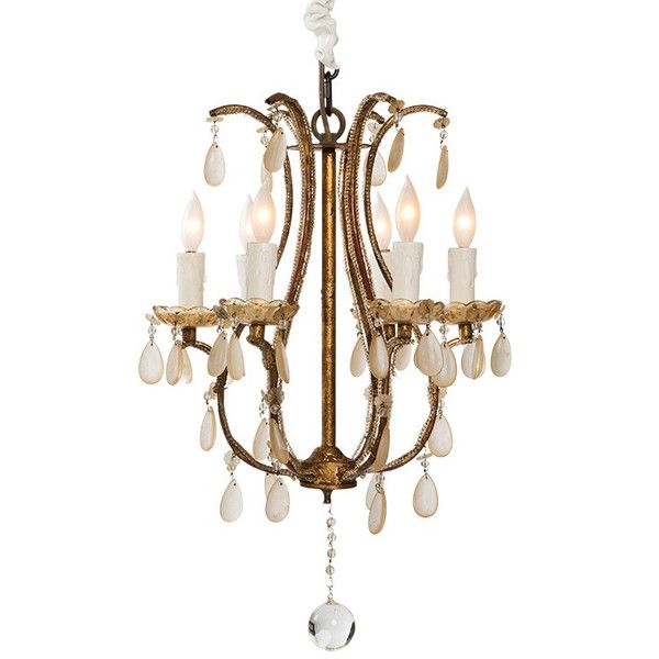 Gilded french flea market chandelier 1295 ❤ liked on polyvore featuring home lighting
