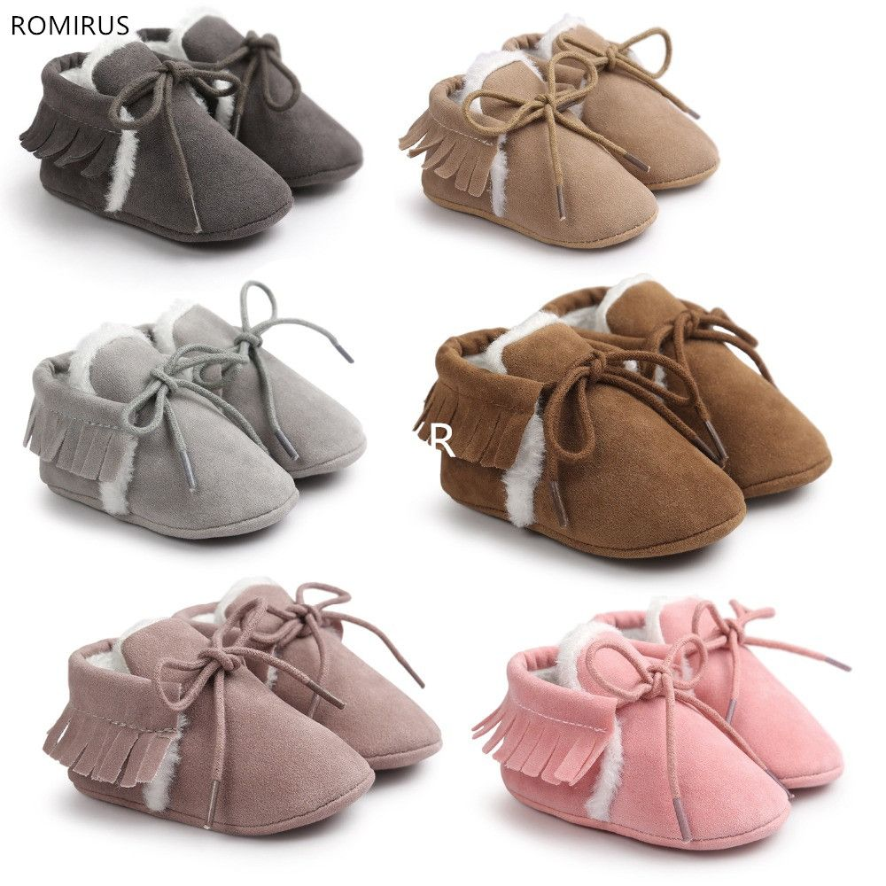 Pu suede leather baby boots Toddler