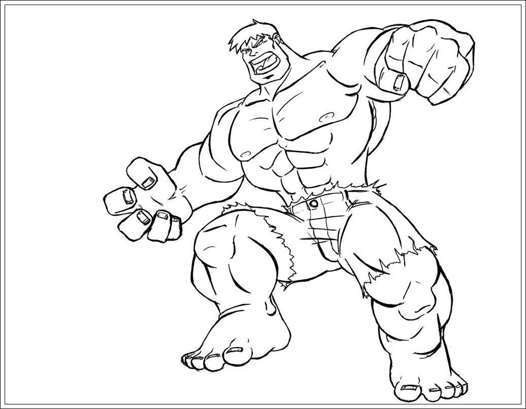 Ausmalbilder Hulk Hulk Zum Ausdrucken: Hulk Ausmalbilder Zum Drucken 1104 Malvorlage Hulk