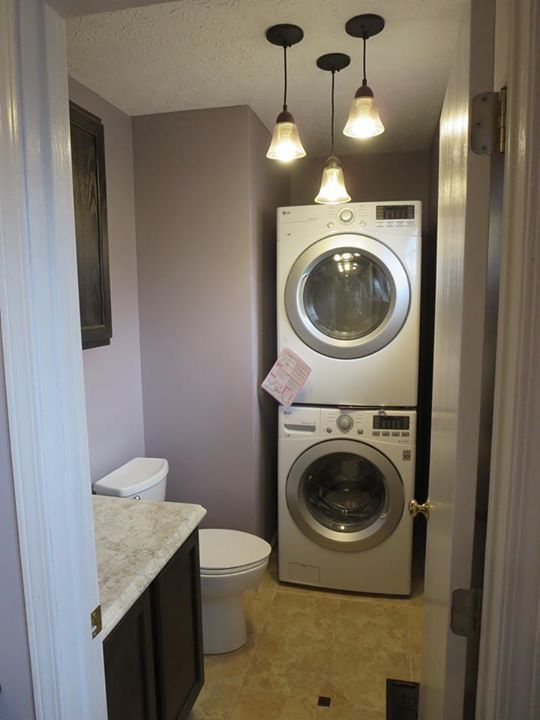 Small Bath Becomes Laundry Room In This Master Bathroom Make Over The 32x32 Showe Laundry Room Storage Laundry Room Storage Shelves Laundry Room Organization