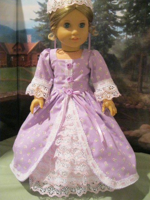 Colonial Splendor  for Felicity,Elizabeth Fits 18 American Girl Doll Clothes #girldollclothes