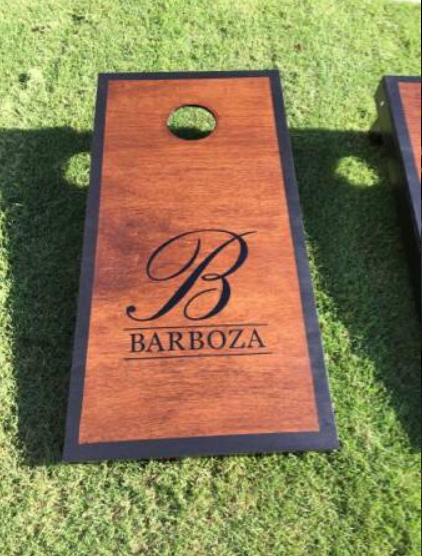 custom cornhole boards family name - Custom Corn Hole Boards
