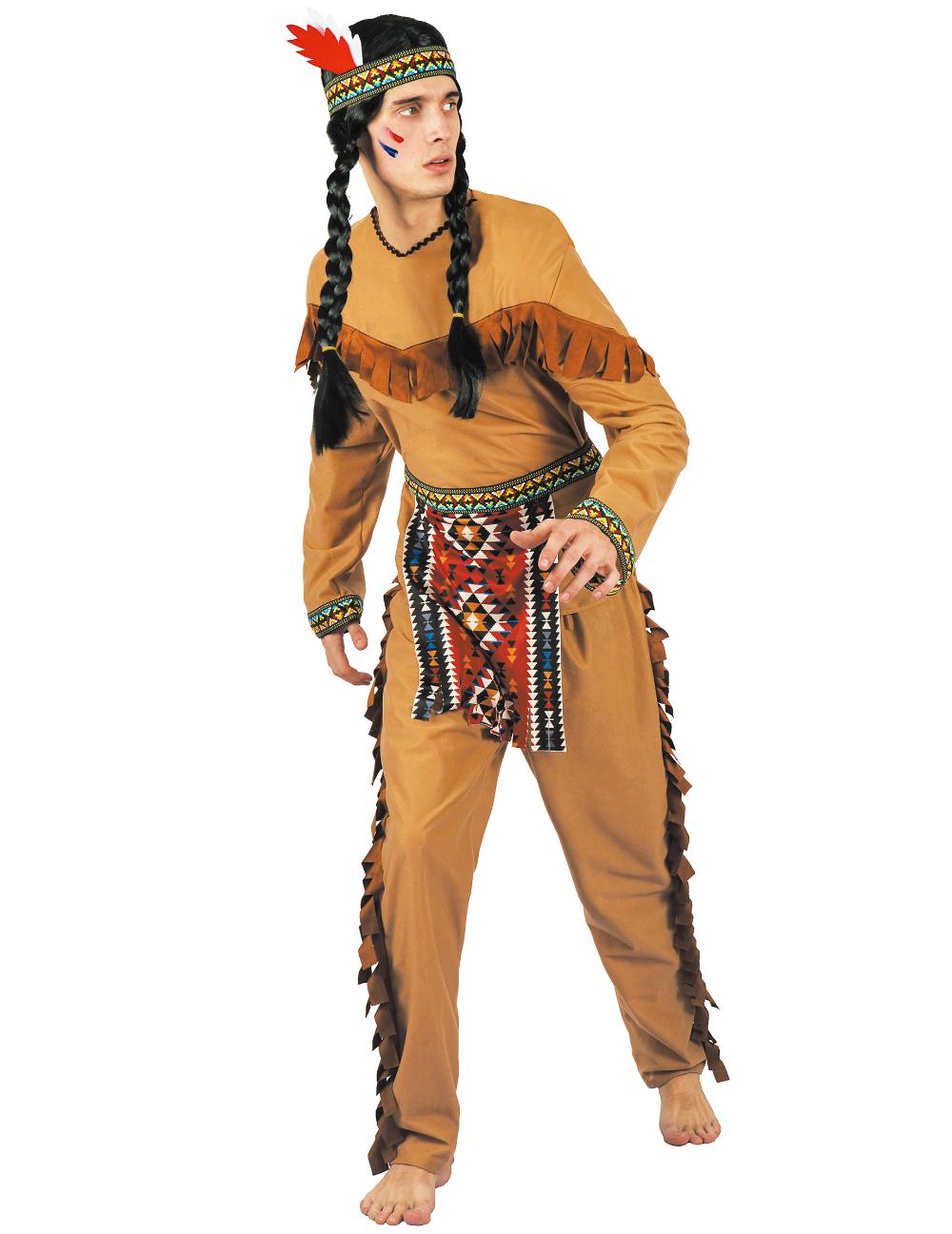 Bandeau indien deguisement accessoire homme femme plumes pocahontas fantaisie FR