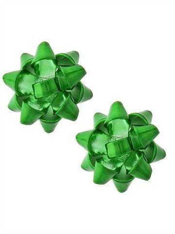 Holiday Bow Earrings | Green