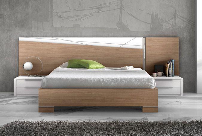 Dormitorio de matrimonio de la colección FOREST, en color natural y ...