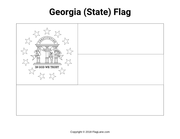 Free Printable Georgia The State Flag Coloring Page Download It At Https Flaglane Com Coloring Page Georgia Flag Coloring Pages Georgia State Georgia Flag