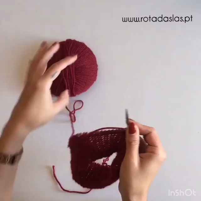 Photo of amazing circular knitting pattern technique