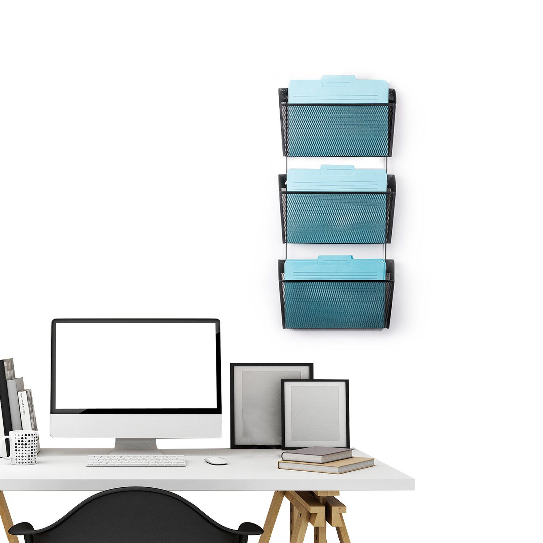 Designa mesh wall mounted file holder organizer letter