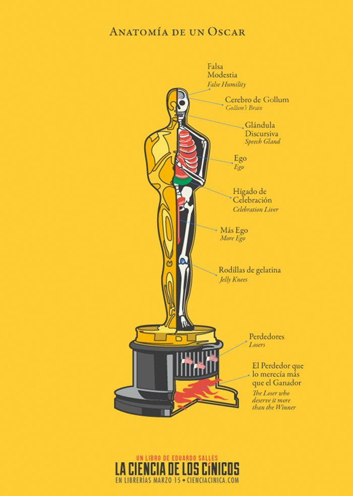 Anatomía de un Oscar | JAJAJA | Pinterest | Anatomía, Cinicos y ...