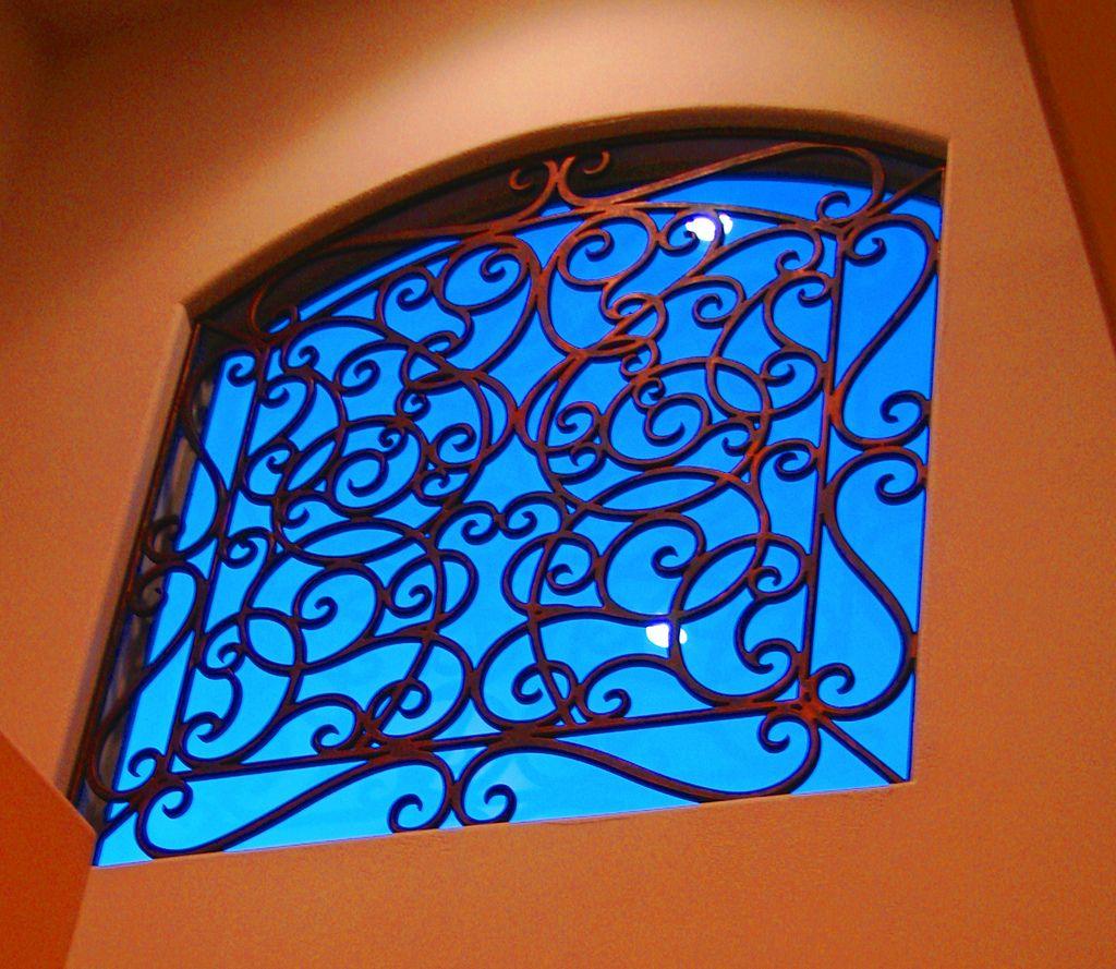 Faux wrought iron window insert wrought iron iron and window