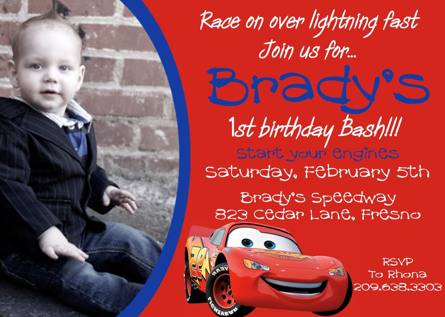 Disney Cars Birthday Party Invitations Free Printable