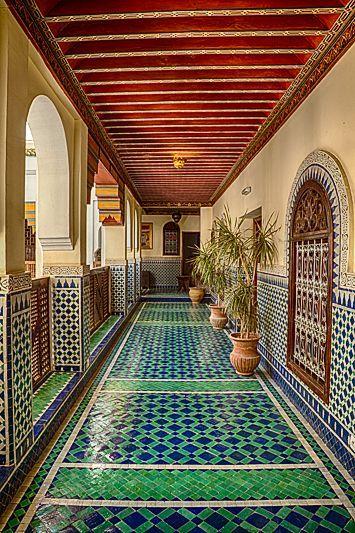 Classic Moroccan Architecture In Fes Morocco Arq