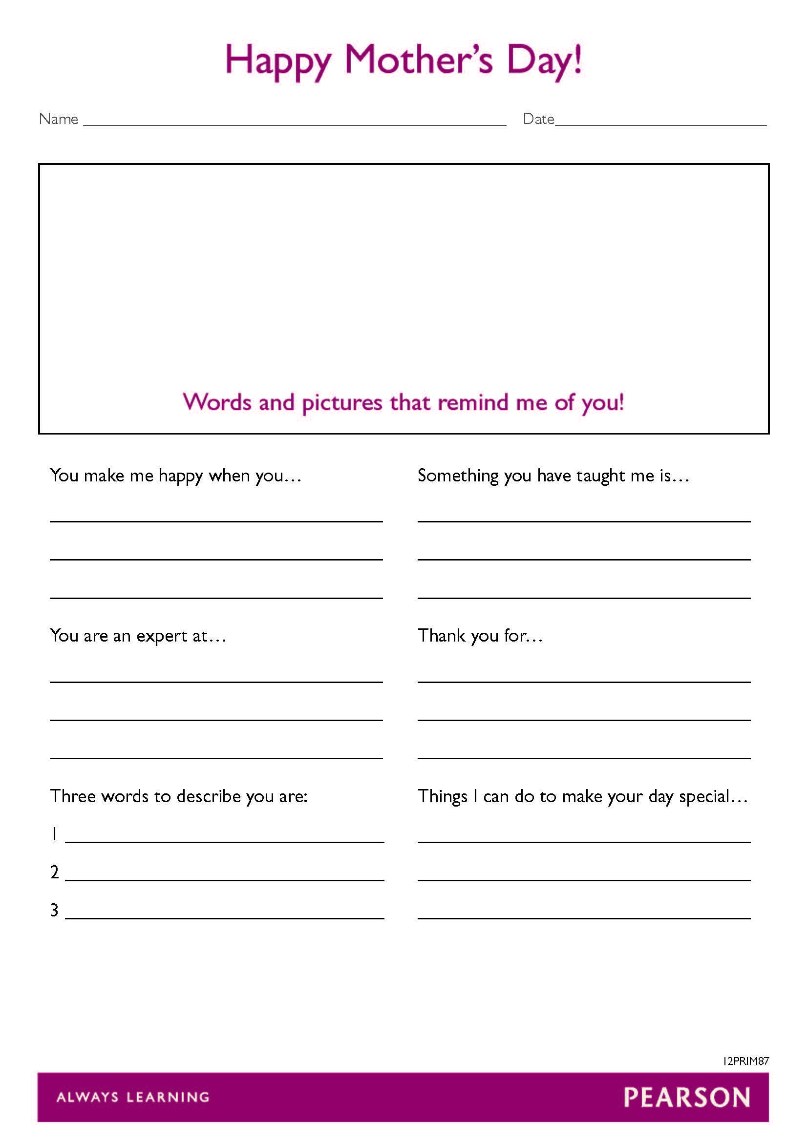 mother s day worksheet for year 3 6 students this mother s day worksheet for year 3 6 students this pdf print