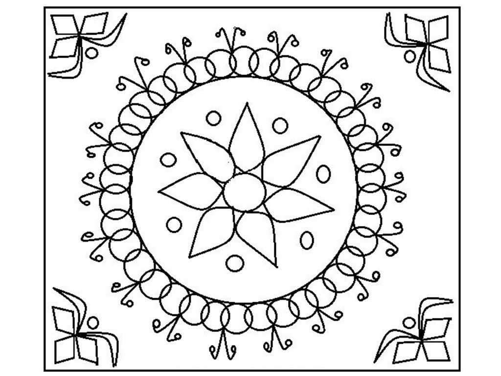 free rangoli coloring page printable places to visit pinterest