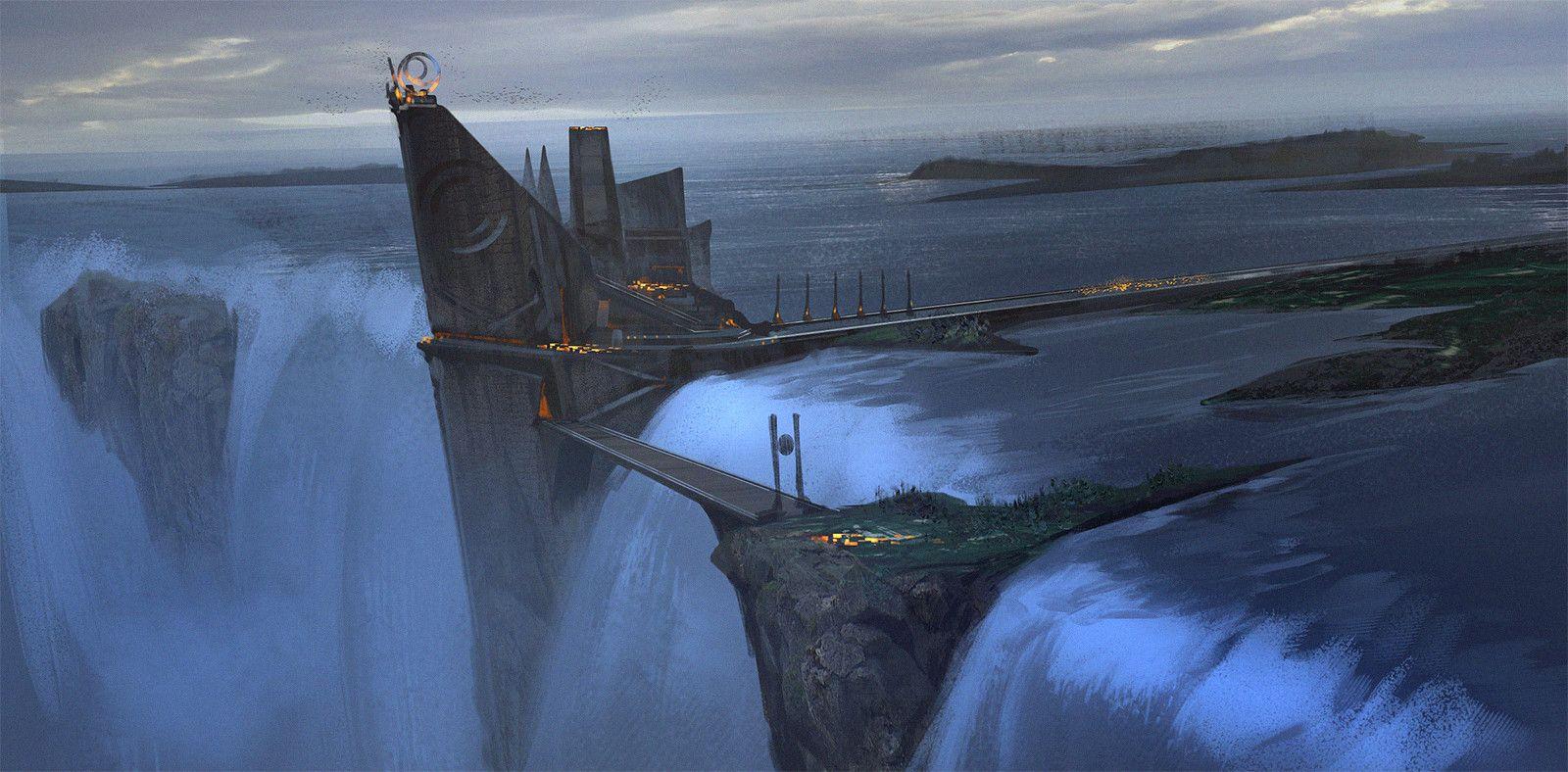 ArtStation - Waterfall - Sketch, Ned Rogers