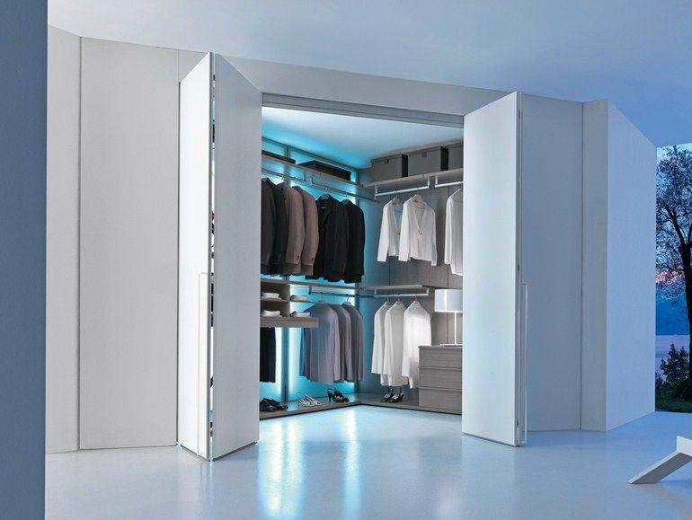 Varius corner walk in wardrobe by presotto industrie for Presotto industrie mobili