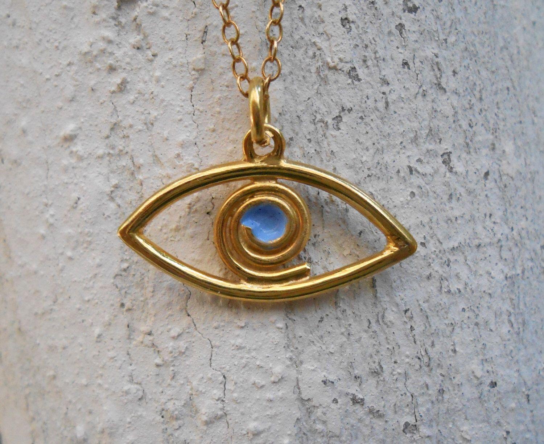 Pendentif porte bonheur oeil bleu argent bijoux la mode - Porte bonheur argent richesse ...