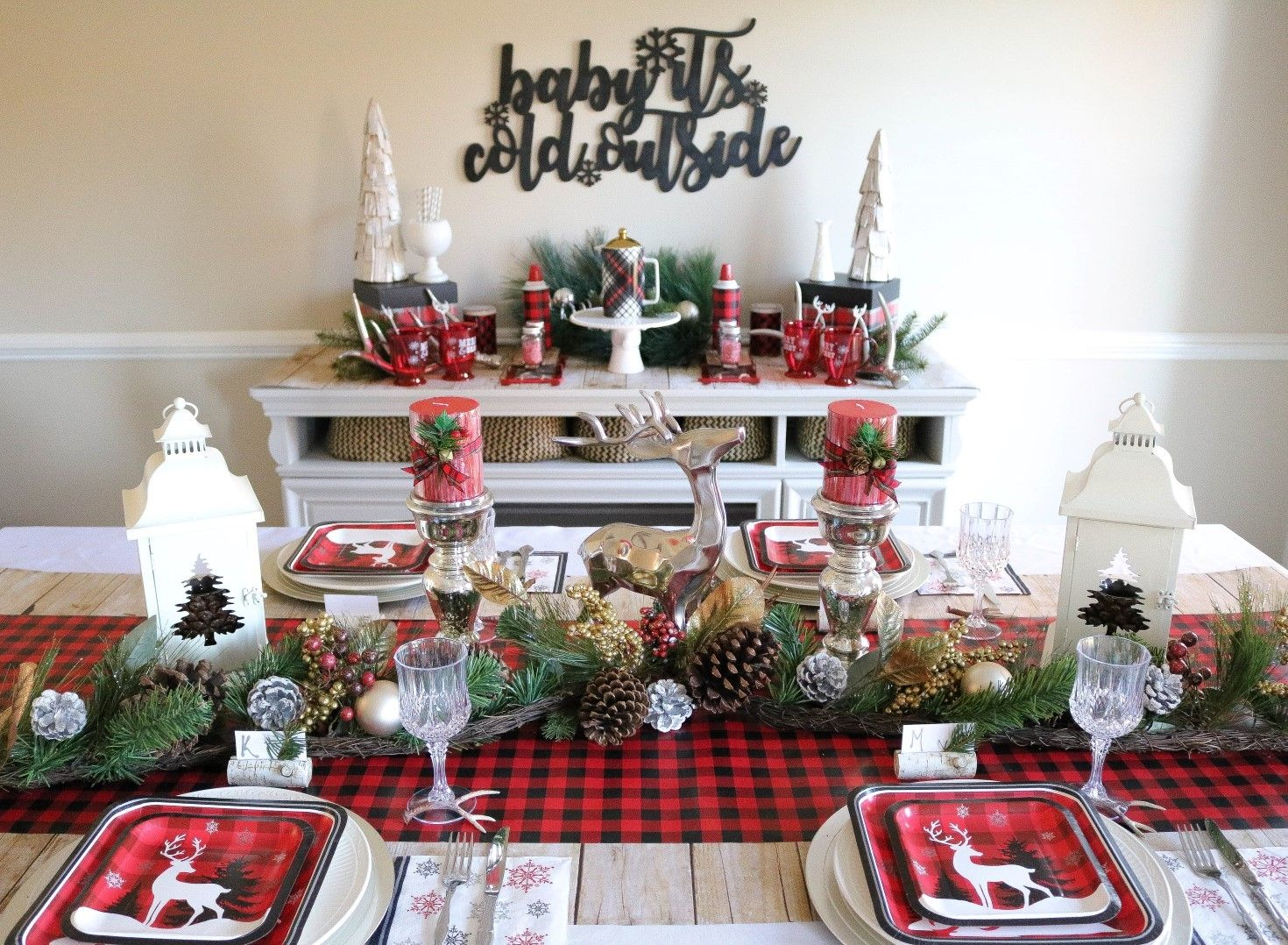 Cozy Christmas Dinner Party Christmas Decorations Cheap Christmas Table Decorations White Christmas Ornaments