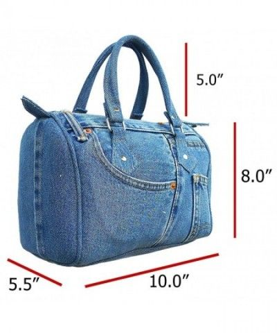 Classic Blue Denim Jean Doctor Style Women Handbag (LL-04) – C511KWXDSLZ