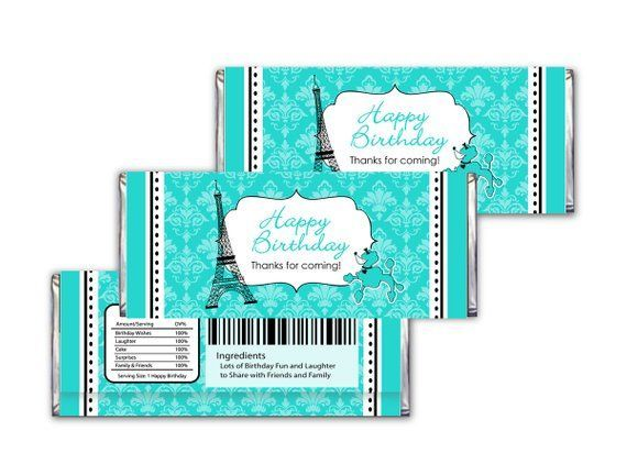 THIS IS A DIGITAL FILE FOR: (PDF& JPEG FILE) Candy bar wrappers for the (popular...,