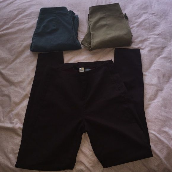 HIGH WAISTED SKINNY PANTS All three $40 one pair $14 OBO H&M Pants Skinny