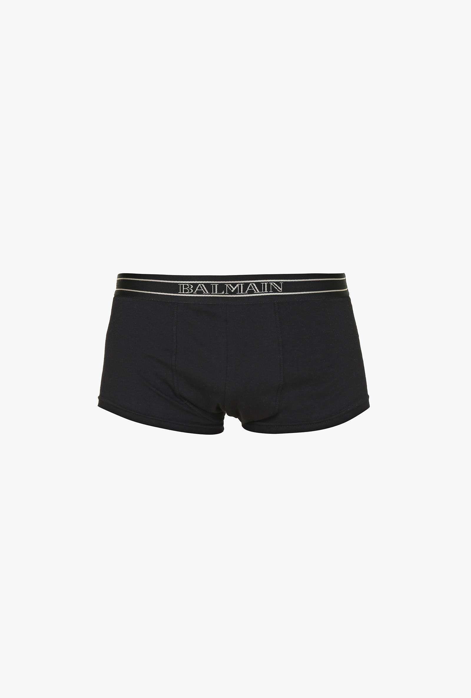 Pack de trois boxers en coton stretch   T-Shirts homme   Balmain ... e3e3557c175
