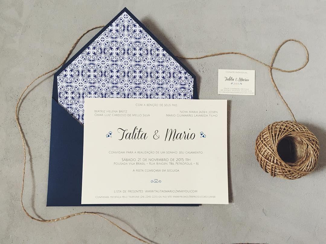Convite de casamento convite azulejo portugu s convite for Azulejo azul