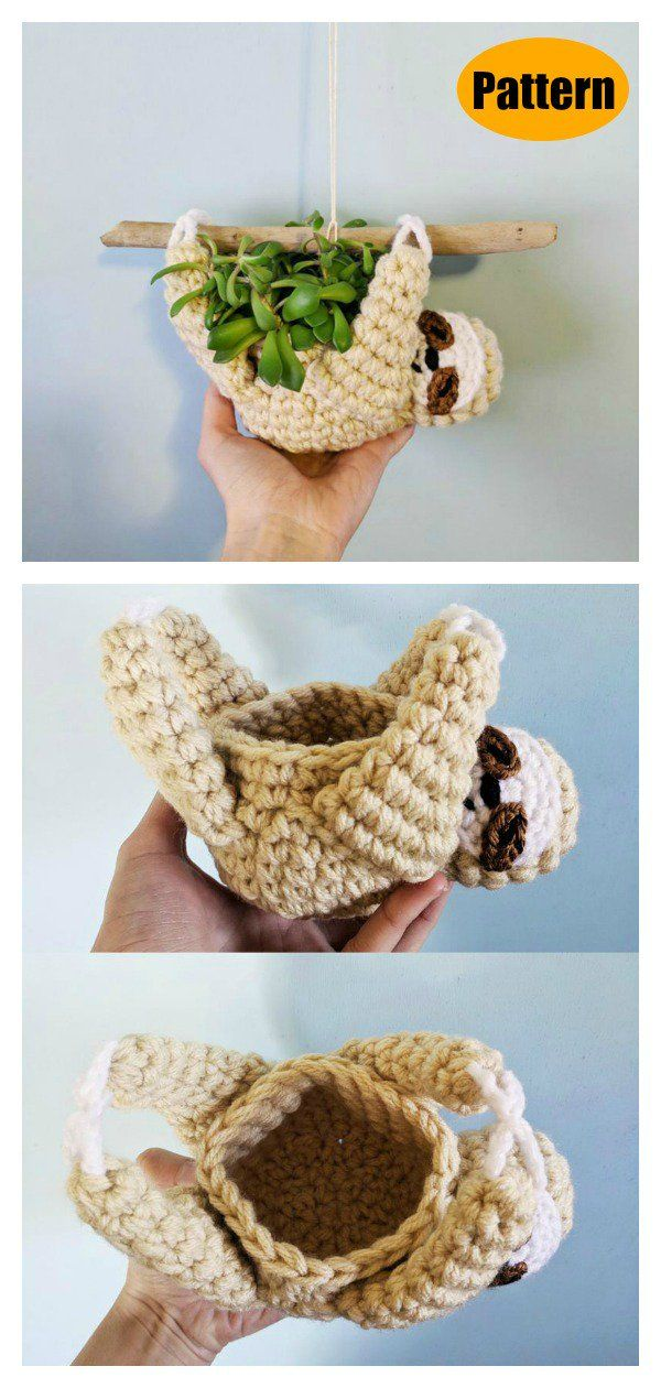 6 Amigurumi Sloth Crochet Pattern Free and Paid #crochetpatterns